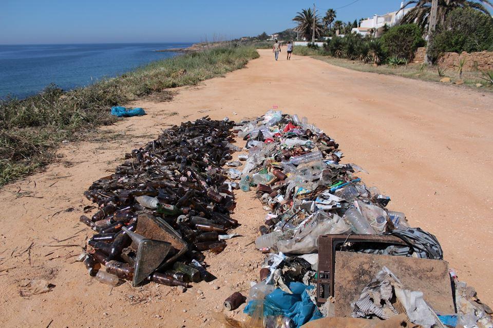 Quantidade de Lixo recolhida numa área com pouco mais de 300m